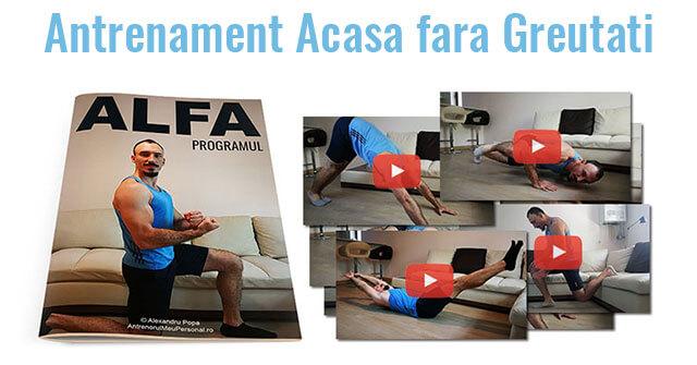 Program Antrenament Complet pentru Acasa