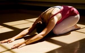 Yoga - pozitia copilului
