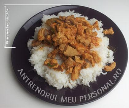 Mese pentru muschi - Tocanita cu orez