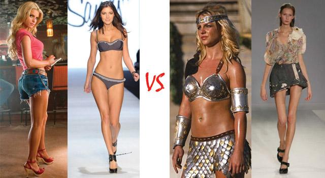 Sexy si Atragatoare vs Prea Grasa sau Prea Slaba