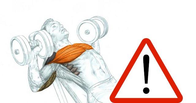 Exercitii piept - Greseala la impins inclinat