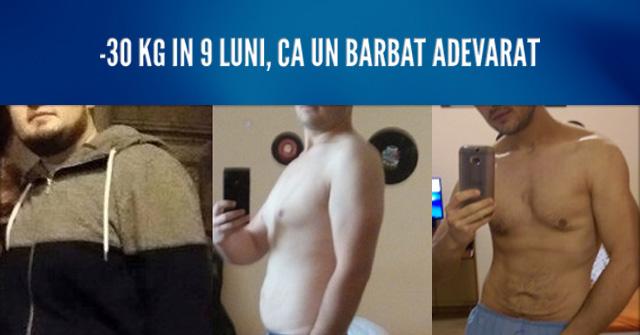 Poveste slabire adevarata - minus 30kg in 9 luni