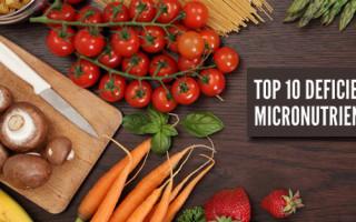 Top 10 Deficiente Micronutrienti