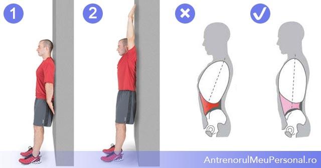 Exercitii umeri - mobiliatea la impins deasupra capului
